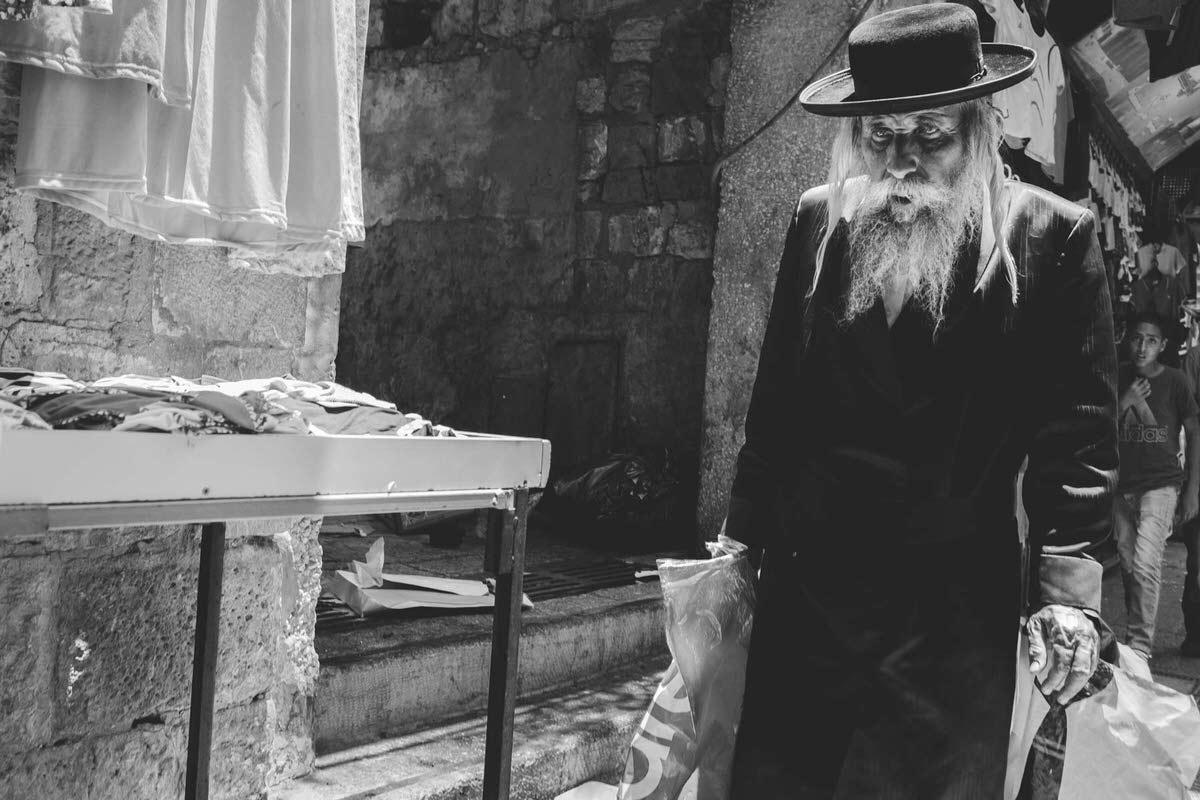 Man Walking Old City