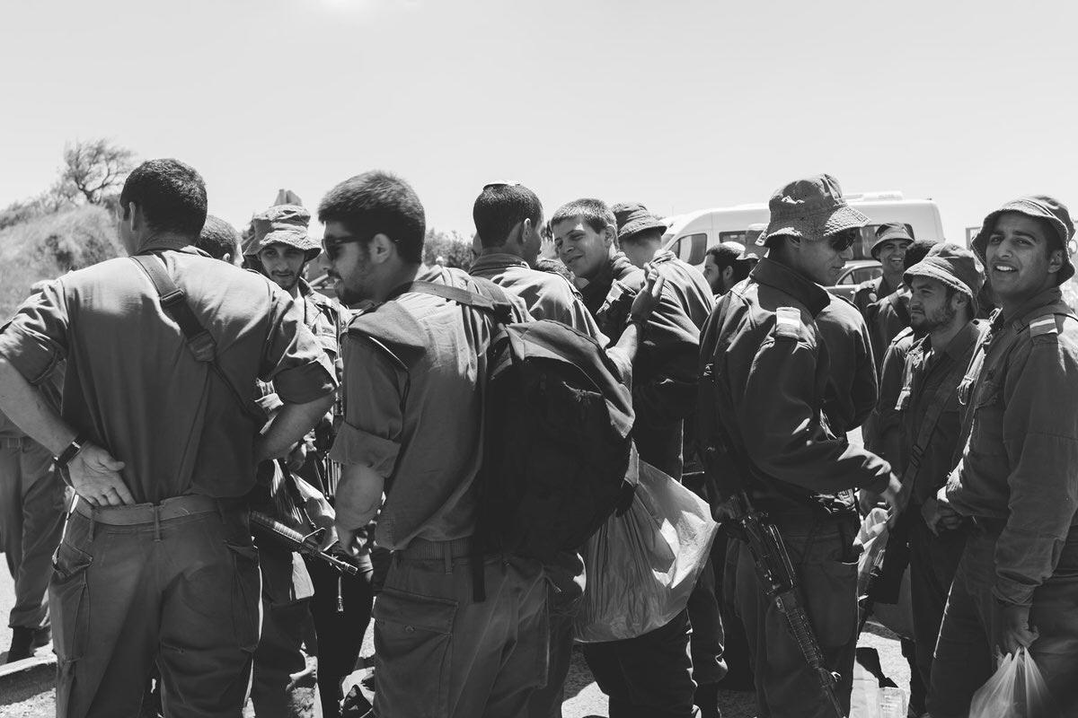 Israeli Soldiers Golan Heights